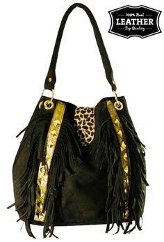 Cartera Gamuza Negra con Detalles de Cuero- www.estilopodesta.com Tan Leather Handbags, Tan Handbags, Hobo Handbags, Leather Men, How To Make Leather, Hand Bags 2017, Ova, Backpack Purse, Cosmetic Bag