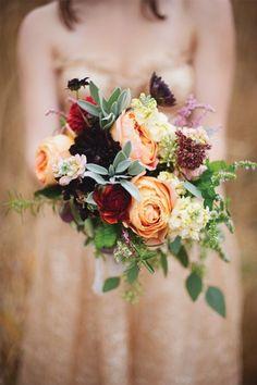 REVEL: Peach   Burgundy Bouquet