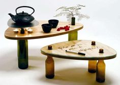 Bottle-Made Wine Tables - The Dvinus Collection Offers Heightened Experience at Low Eco-Impact (GALLERY)