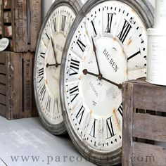 love huge clocks - so excited to hang our new one!                              …