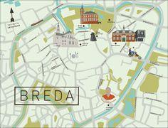 Breda Map, The Netherlands - See-Creative
