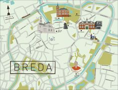Breda Map, The Netherlands - See-Creative