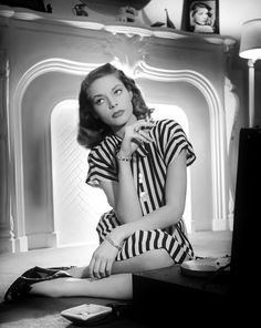 Lauren Bacall, 1946. Classic everything -- I'd wear this look today.