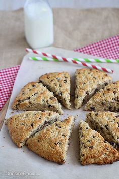 Healthy(er) Scones Recipe with Chocolate & Crystallized Ginger #recipe #baking by CookinCanuck, via Flickr