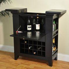 Gianna Flip Top Bar Cabinet - Espresso - 2037-99-WB