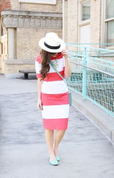 colored pink and white stripes