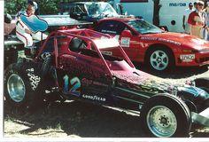 Newman Dreager race car at the Pikes Peak Hill Climb race 1991