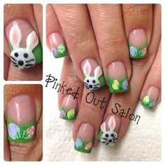 Easter nail art!  Check out Pinked Out Salon on FB!!