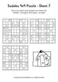 Resultado de imagem para sudoku for kids printable 6x6