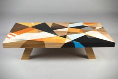 Hand Painted Graffiti Tables... anyone else think this looks very DIY-able?