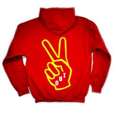 Crumbled Thoughts: Peace Out Hoodie, $50.00