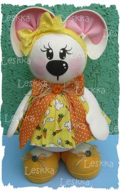 Leskka - Arte em e.v.a, coelhinha, páscoa, bunny, easter,