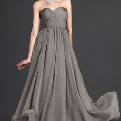 Gray Evening Gown by Svetlana