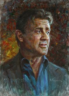 Artwork by Igor Kazarin. Oil on canvase. My favorite actor. Stoner Art, Oil Portrait, Oil Painters, Celebrity Portraits, Sylvester Stallone, Colorful Drawings, Art Oil, Painting & Drawing, Oil On Canvas