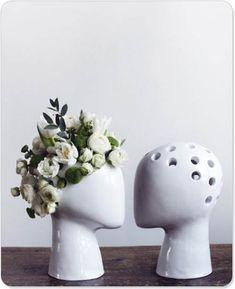 Head vases. Like really classy Chia Pets!