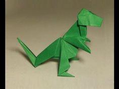 tuto origami t rex