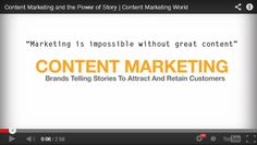 Marketing is impossible without great content. [This video explains it all] Content Marketing, Digital Marketing, Visual Resume, Telling Stories, Storytelling, Social Media, Videos, Youtube, Social Networks