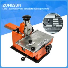 Manual steel embossing machine for pumps, valves,embosser,metal, aluminum alloy name plate stamping, label engrave tool, 1 gear #Affiliate