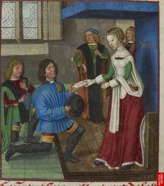 Illumanuend of the 15th century (ca. 1490-1500) Netherlands - Bruges  London, British Library  Harley 4425: Roman de la Rose by Guillaume de Lorris and Jean de Meun