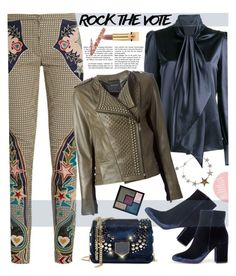 """""""Rock the Vote"""" by sweet-designs ❤ liked on Polyvore featuring Mary Katrantzou, Yves Saint Laurent, Jimmy Choo, Gianvito Rossi, Vote and rockthevote"""
