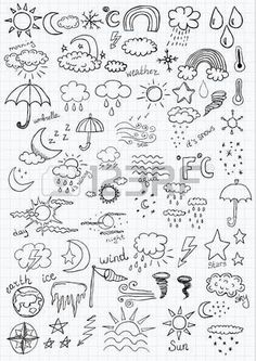 Trendy Flowers Black And White Drawing Doodles Zentangle Bujo Doodles, Love Doodles, Doodle Drawings, Easy Drawings, Weather Icons, Weather Forecast, Pinturas Disney, Doodle Art Journals, Sketch Notes