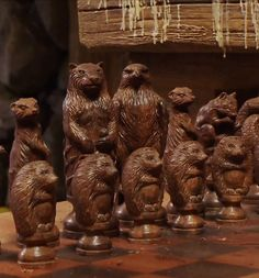 Beorn's chess set in The Hobbit: The Desolation of Smaug. THE PAWNS ARE HEDGEHOGS. That makes two different hedgehog appearances in the Hobbit movies. Somebody is messing with us...
