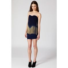 Rare fringe bandeau dress white