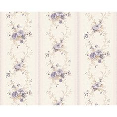 Vintage shabby Chic Floral Stripe Wallpaper White / Pink in Home, Furniture… Striped Wallpaper White, Plain Wallpaper, Shabby Chic Wallpaper, Pink Wallpaper Iphone, Brick Wallpaper, Rose Wallpaper, Trendy Wallpaper, Pattern Wallpaper, Classic Wallpaper