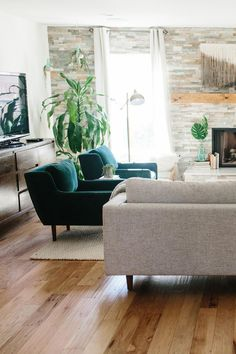 """""""There are a lot of pretty sofas out there, but they aren't all comfortable. If this is a sofa that you are going to be sitting on a lot over the years, don't sacrifice comfort for style. The goal, of Indian Living Rooms, Boho Living Room, Living Room Chairs, Living Room Furniture, Living Room Decor, Cozy Living, Dining Chairs, Dining Room, Home Interior"""