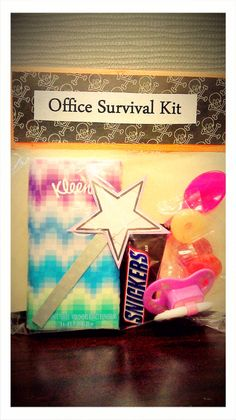 DIY Office Survival Kit | Wee Share    Should make these for my co-workers this Christmas...