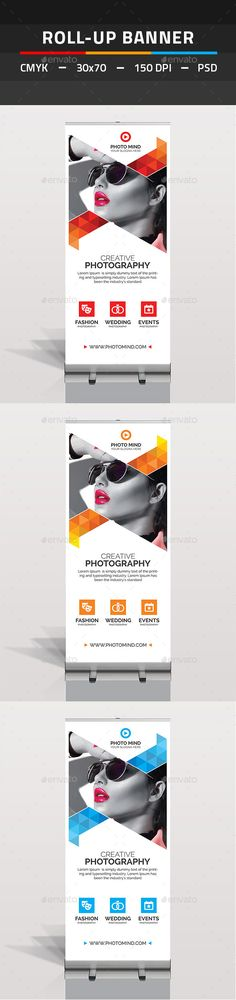 Photography Roll Up Banner Template PSD