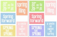 Free Spring Fling Filler Cards from scrappystickyinkymess