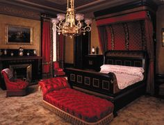 Pottier and Stymus, or George Schastey, Bedroom, Arabella Worsham Huntington residence, 4 West 54th Street, ca 1881-84, MCNY