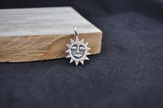 Sterling silver pendant Finland 830s sterling sun charm 1970's Sun Silver Pendant Kultateollisuus JS1116 by Andiesvintage on Etsy