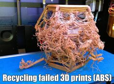 Recycling failed 3D prints (ABS)