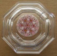 SMALL EXQUISITE Millefiori MURANO Glass BOX PASTEL tiny Flowers VINCIPROVA LABEL