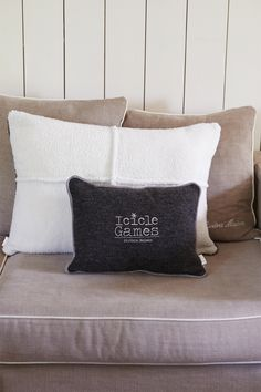 Rivièra Maison Icicle Games Cushion Cover dark grey 40x30 TOP!
