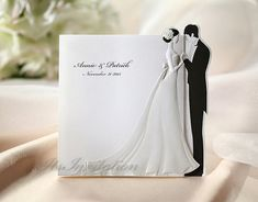 Custom Wedding Invitations Whit Embossed Bride and Groom Cards - BH2069 - - - RSVP with Envelopes Seals - - - Free Shipping Promotion