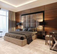 34 The Best Modern Bedroom Furniture To Get Luxury Accent - Furniture for bedroom is ideally a good investment and also enhances the decor of your bedroom. Modern furnishings make your bedroom look elegant and . Bedroom Furniture Design, Luxury Bedroom Decor, Bed Furniture Design, Luxurious Bedrooms, Amazing Bedroom Designs, Hotel Room Design, Modern Bedroom, Modern Luxury Bedroom, Remodel Bedroom