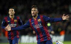 Neymar'ın gol sevinci..