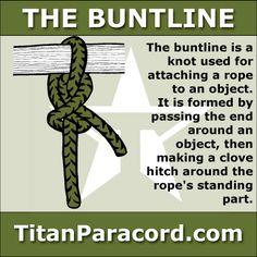 29 best titan survival knots images paracord braids, paracordbuntline hitch · rope knotsparacord knotsparacord braceletsbowline