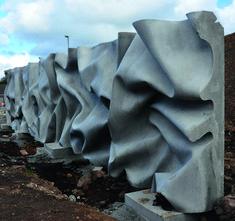 Hormigón Textil: Arrugas En El Crushed Wall.