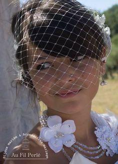 voilette amovible marie dentelle et tulle ivoire 014 - Bibi Mariage Voilette