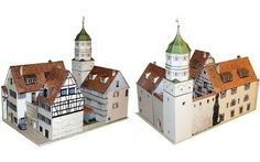 This Building Paper Model is thePowder Tower at the Argen in Wangen, created by Ausschneide Bogen. There are 1:87 (H0) and 1:160 two scale versions. It is perfect for Dioramas, RPG and Wargames.
