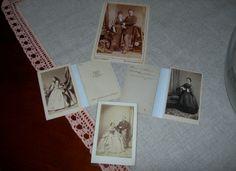 Cdv photo di nobili italiani ed austriaci dell'epoca di Sissi dello studio Angerer di Vienna e dello studio Meylan di Torino, 1860-1870 circa.