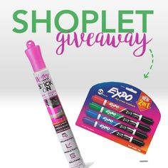 Enter for a chance to score A Dry Erase Board And Marker Set from Shoplet. Now you can have a whiteboard on the go. Enter now!