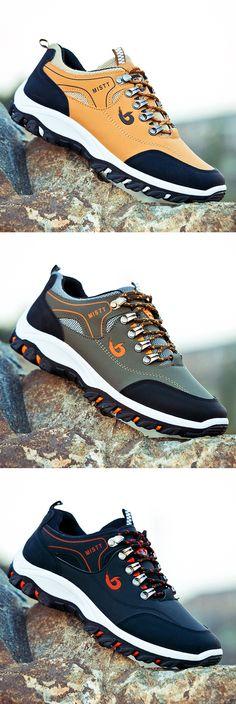 cbf245c5 US$24.99 Men Hiking Metal Buckle Outdoor Shock-absorbing Slip Resistant  Sneaker Zapatos Casuales,
