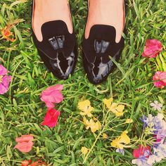 """The prettiest and most comfortable black flats I own, by @sarahflint_nyc."""