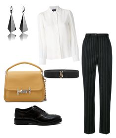 """Lovely Casual shopping day outfit"" by irini-stam on Polyvore featuring Seen, Yves Saint Laurent, Tod's and Vanessa Seward"