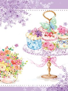 Liz Yee - Cupcakes With Flower Pot